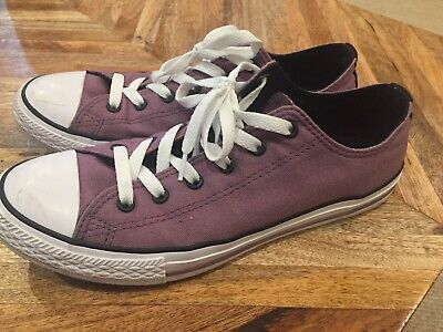 Converse All Star Purple Junior Shoes Size 6 Excellent