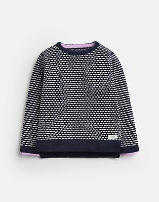 Joules 203933 Chenille Jumper in NAVY SPOT Size 5yr