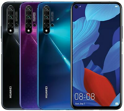 "Huawei Nova 5T YAL-L21 128GB 8GB RAM (FACTORY GSM UNLOCKED) 6.26"" New Sealed"