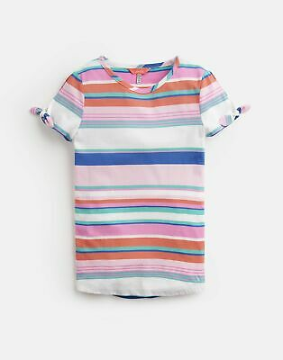 Joules Girls Liv Tie Sleeve Top 3 12 Yr in PINK MULTI STRIPE Size 5yr