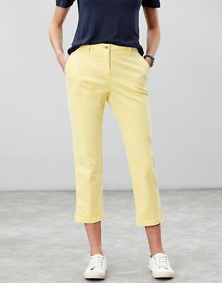 Joules Womens Hesford Crop Chinos in SUMMER BAY Size 14