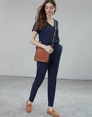 Joules Womens Antonia Jersey Wrap Jumpsuit in FRENCH NAVY Size 16