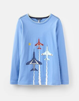 Joules 208594 Mock Layer T Shirt in BLUE Size 9yrin10yr