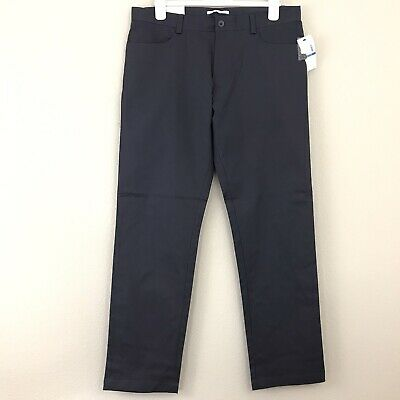 Calvin Klein Mens Pant 38x32 Slim Fit Casual Stretch Flat Front Pockets Gray New