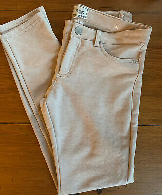 NWOT Mayoral Girl Size 14 Beige Skinny Pant/Leggings Fly Zip/Button Like Jeans