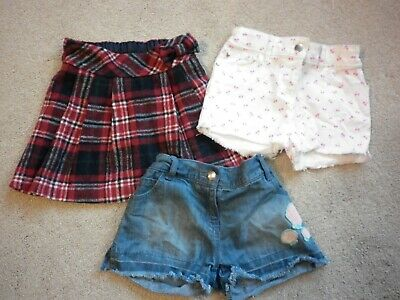 Lovely Girls Bundle Of 2 Shorts & 1 Skirt, Age From 3 - 8 Yrs, Tu And F & F
