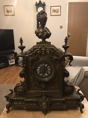 Magnificent Bronze/Brass French Clock By Vincenti &cie