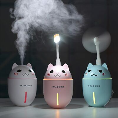 3 IN 1 320ML USB Air Humidificateur Ultrason Cool-Mist Adorable Animal Mini