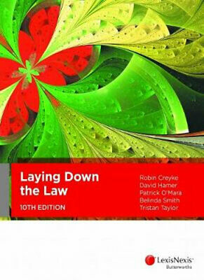 NEW Laying Down the Law, 10th Edition By Robin Creyke Paperback Free Shipping