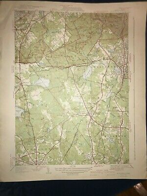 Vintage 1941 USGS Topographical Map of Blue Hills MA - Unfolded