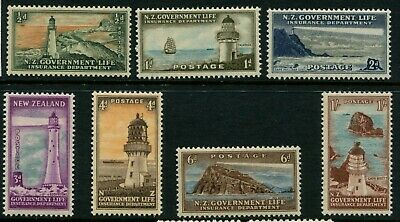 NEW ZEALAND - 1947 KGVI Set to 1/ 'LIFE INSURANCE' SGL42-49 MNH cv£22 [A6817]*