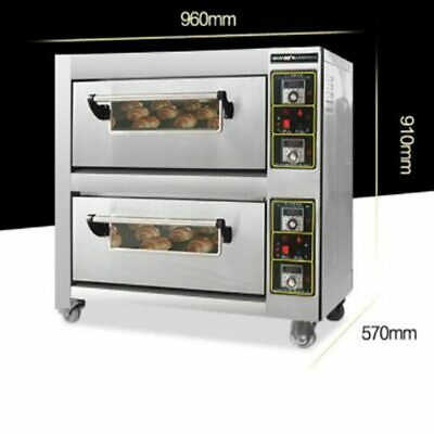Commercial Electric oven 6800w baking oven double layers double plates baking