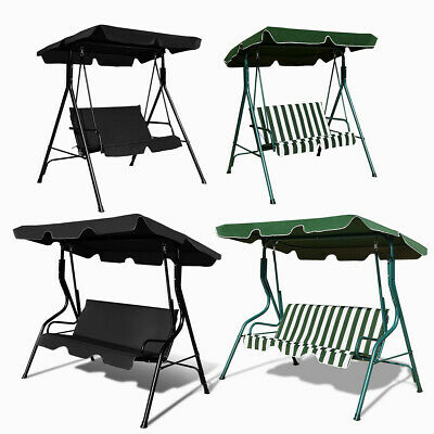 Garden Swing Chair 2&3 Seater Patio Canopy Hammock Cushioned Bench Lounger