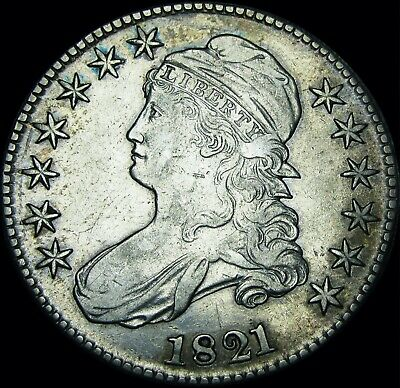 1821 Capped Bust Half Dollar --- NICE --- #T821