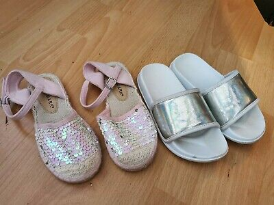 Girls Sliders And Sandles Shoes Size 11