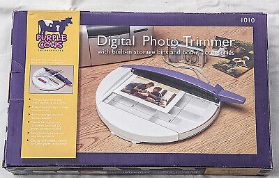 'Purple Cows' Digital Photo Trimmer With Built-in Storage-Superb Condition