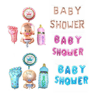 Baby Shower Boy Girl Decoration Set Balloon Huge Foil Helium Balloons Newborn UK