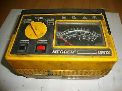 RRP £310 Megger BM12 Multi-Voltage Insulation & Continuity Tester TESTED