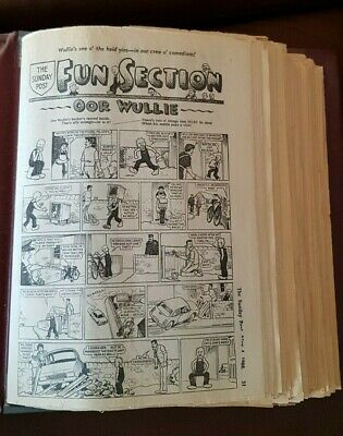 Vintage Collection of OOR WULLIE and the BROONS paper clippings, The Sunday Post