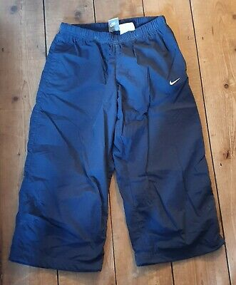 Girls Age 13 - 15 Nike Navy 3/4 Length Joggers Jogging Tracksuit Bottoms