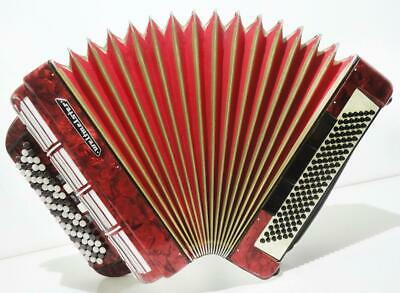 5 Row Weltmeister German Concert Button Accordion Bayan 120 Bass New Straps 1274