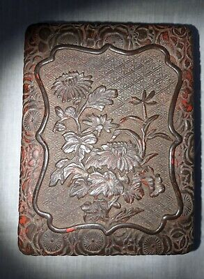 antique chinese cinnabar lacquer box 18th century