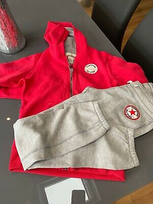 Bnwt New Girls Converse All Star Tracksuit Pink And Grey Age 10-12