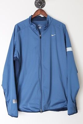 NIKE ELEMENT BOUCLIER Veste Course XXL 2XL Bleu Bicolore
