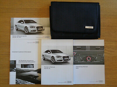 Audi A5 Coupe/Sportback Owners Handbook Manual and Wallet 11-15