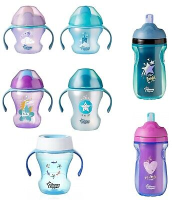 Tommee Tippee No Spill First 4m+/ Easy Drink 6m+ /Straw 12m+ /360 Trainer Cup