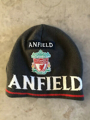 OFFICIAL Liverpool FC Wooly Hat (Grey)