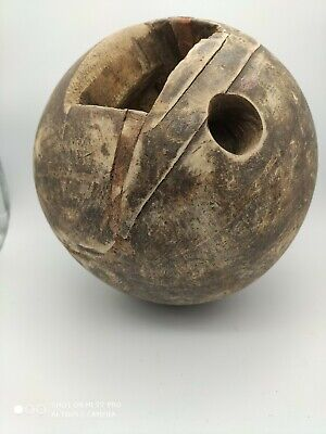 Antique Early 19th Century Wooden Bowling Ball