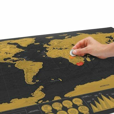 Vintage World Maps with Tube 42 30CM Creative Scratch maps For Kids Gift DIY