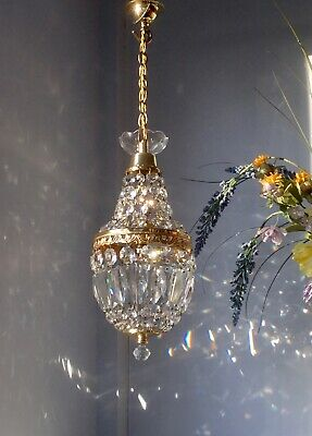 ✨Pretty ✨Glass crystal French Empire style Vintage chandelier light ✨1 of 2