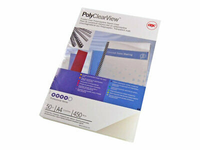 GBC PolyClearView A4 (210 x 297 mm) 350 micron frosted clear matte 100 IB387166
