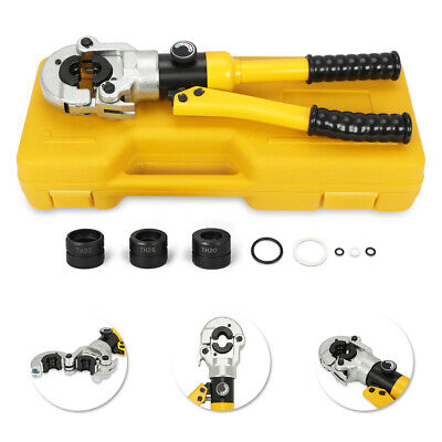 NEW Hydraulic Pipe Crimper Tool 12T Punching Crimping Pressing Pliers Kit