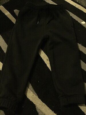 Primark Boys Black Jogging Bottoms 4-5 Years