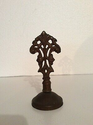"""Antique:early Metal Light """"Ceiling/Lamp"""" Fixture Finial & End Cap"""
