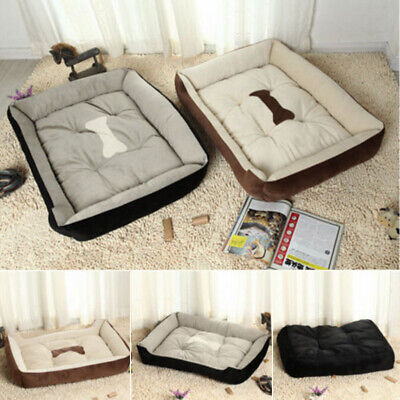 Large Warm Soft Fleece Pet Dog Kennel Cat Puppy Bed Mat Pad House Kennel Cushion