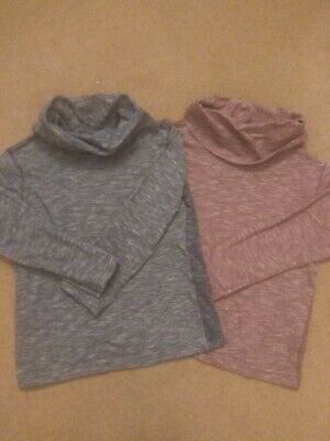 BOYS GIRLS two pack NEXT POLO NECK base layer jumper top long sleeve age 4
