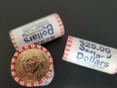 "2007 P George Washington Presidential /""Unopened/"" Dollar 25 Coin ROLL"