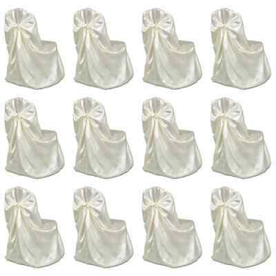vidaXL 12x Chair Cover for Wedding Banquet Cream Spandex Dining Chairs Covers