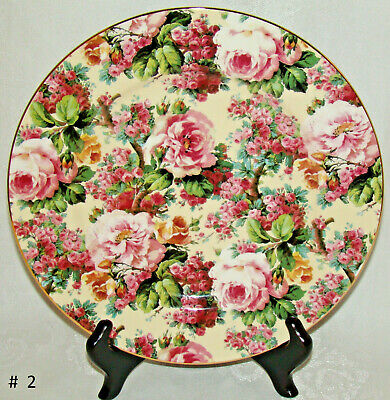 """Chintz Collection / Royale Garden Staffordshire ENGLAND 10 7/16"""" Dinner Plate #2"""