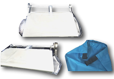 Travel Accessory Plane Tray Table Cover pockets & Clip on Storage Bag 2 Items