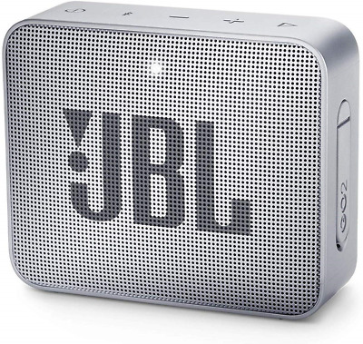 JBL GO2 Portable Bluetooth Speaker with Rechargeable Battery, Waterproof, Grey