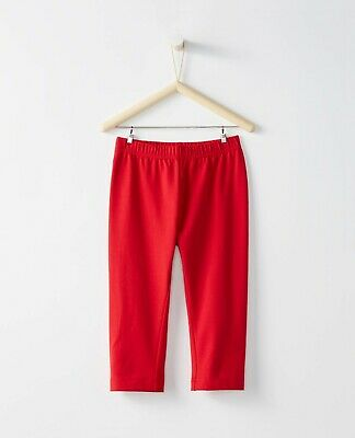 Hanna Andersson Bright Basics Red Capri Leggings Size 130 Hannah Anderson NWT