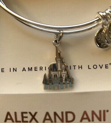 Disney Alex & and Ani Cinderella Castle Silver Bracelet