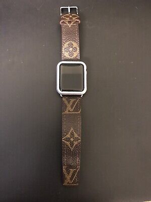 Recycled Louis Vuitton Fabric I Watch Band