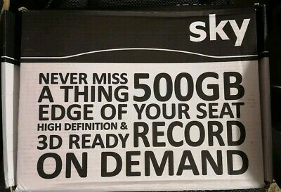 Sky Plus HD Box 500GB Sky+ DRX890R with Remote, Cable and HDMI Cable Freesat HD