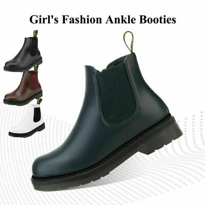 DREAM PAIRS Womens Girls Chelsea Boots Leather Ankle Bootie Slip On Martin Shoes